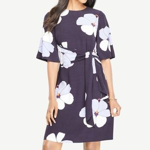 Ann Taylor Floral Tie Front Dress